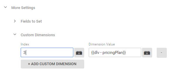 GA tag custom dimensions
