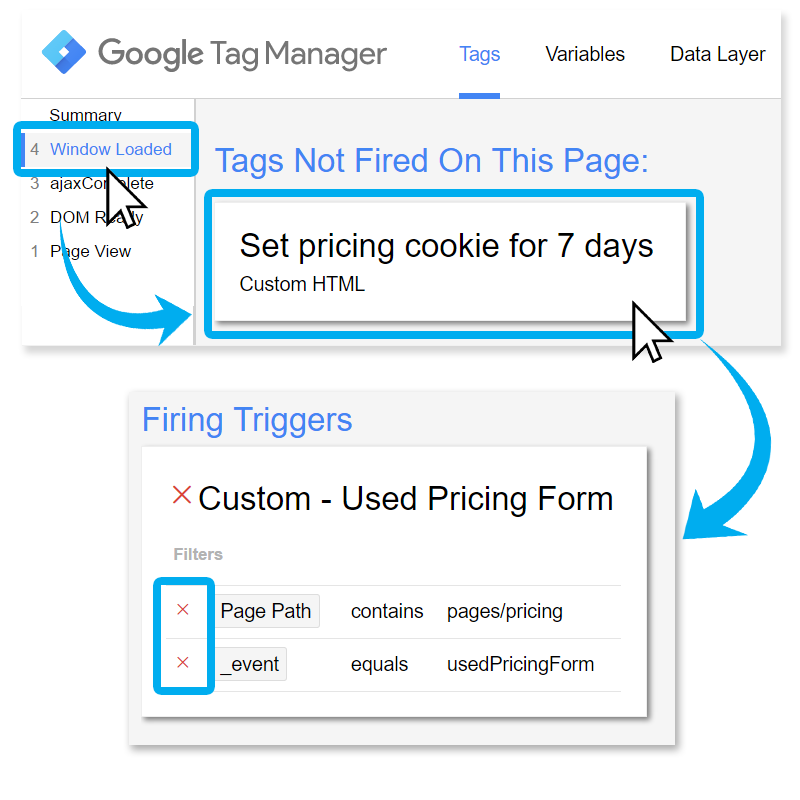 Google tag manager preview and debug mode