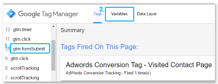 Google Tag Manager form tracking