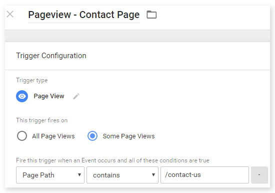 Trigger - Contact page