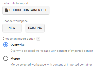 Overwrite Google Tag Manager container
