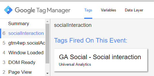 Social Interaction Preview and Debug Mode in GTM