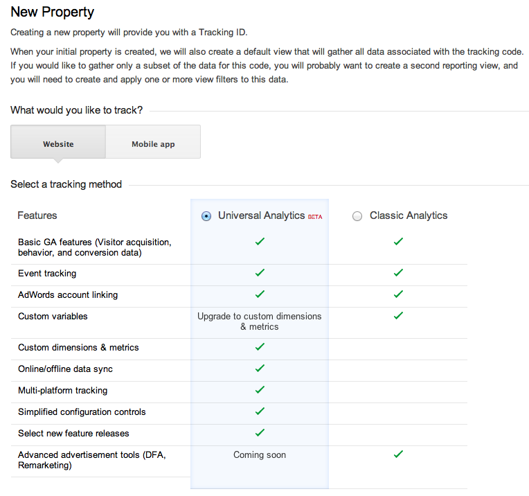 difference between Google Analytics and Universal Analytics