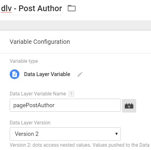 post author data layer variable