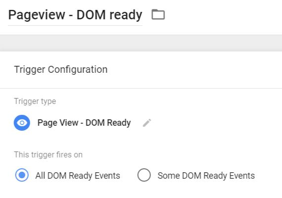 Pageview - DOM ready