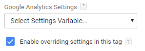 override google analytics settings variable