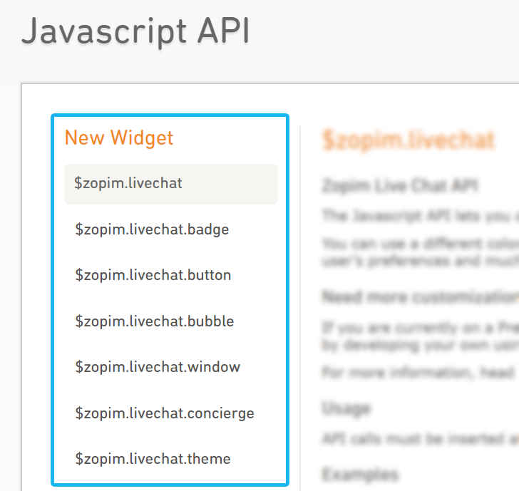Zopim Javascript API