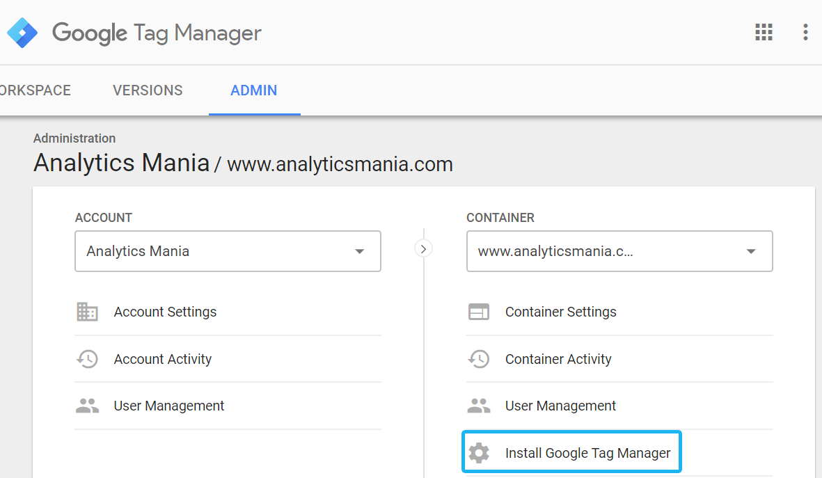 how to install google tag manager