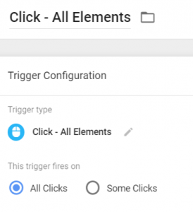All clicks trigger