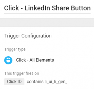 Click Trigger - Linkedin Button