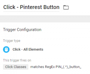 Click Trigger - Pinterest button