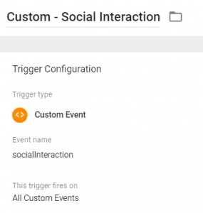 Custom - Social Interaction Trigger