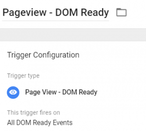 DOM ready trigger