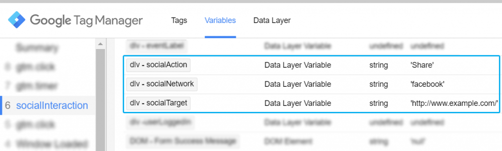 Social Interaction Data Layer Attributes as Variables