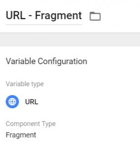 URL Fragment variable