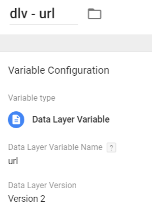 datalayer variable - url