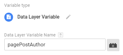 1st level key in Data Layer Variable