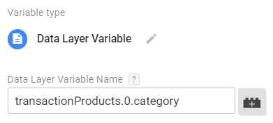 Array in the Data Layer Variable