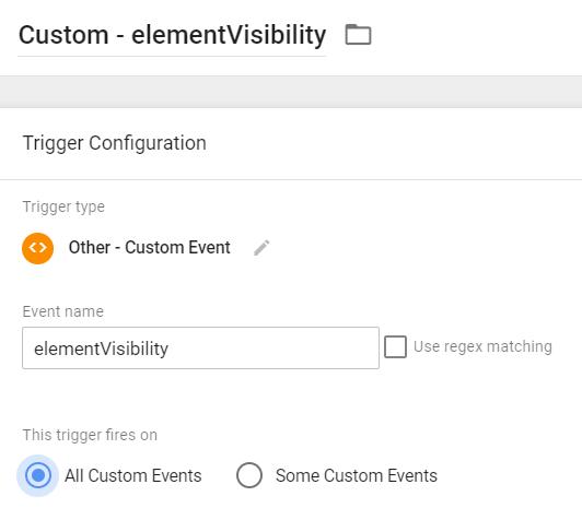 Custom Trigger - Element Visibility