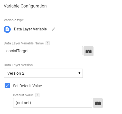 Data Layer Variable Default Value