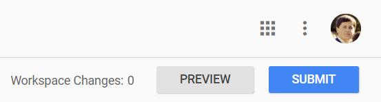 GTM Preview button