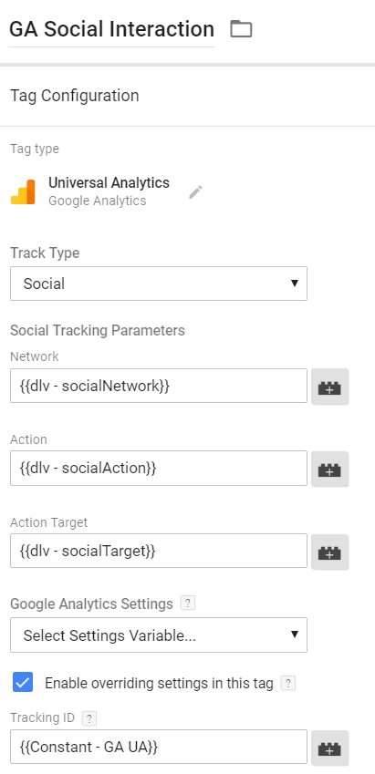 Universal Analytics Social Interaction Tag
