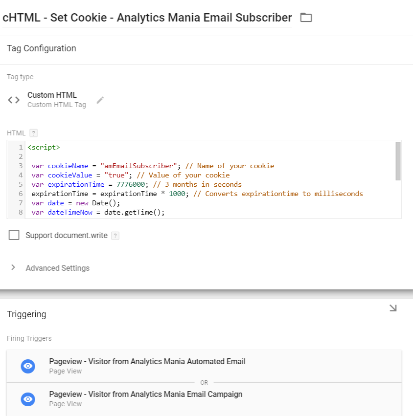 Set cookie - Visitor is email subscriber