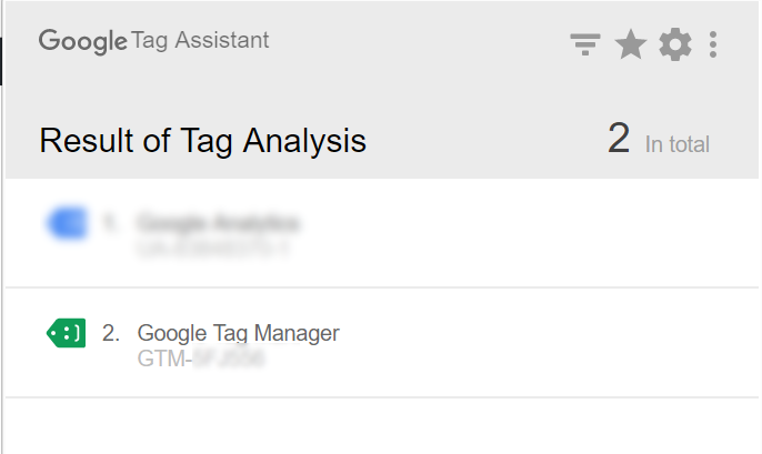 Google Tag assistant - Success