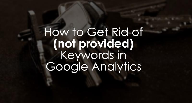 Keyword Hero - get rid of (not provided) Keywords in Google Analytics