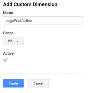 Create dimension in Google Analytics