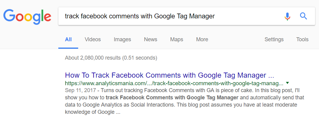 How to track facebook comments with Google Tag Manager