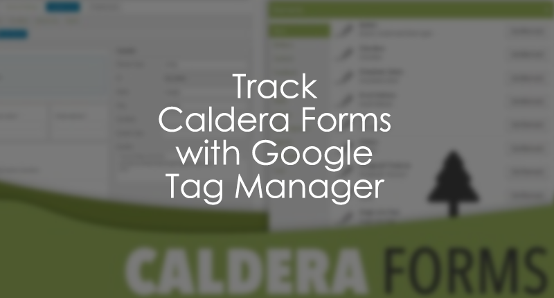 Track Caldera Forms with Google Tag Manager