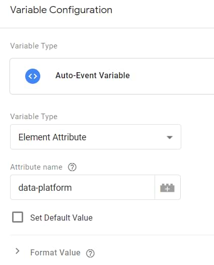 auto-event variable in google tag manager