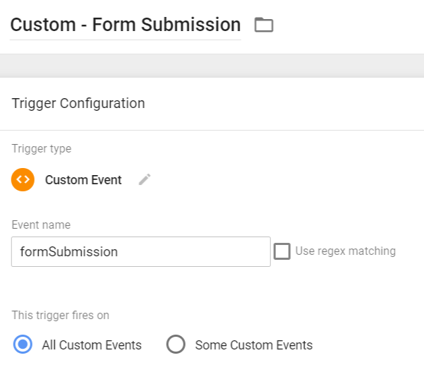 Custom Event Trigger - Form Submission
