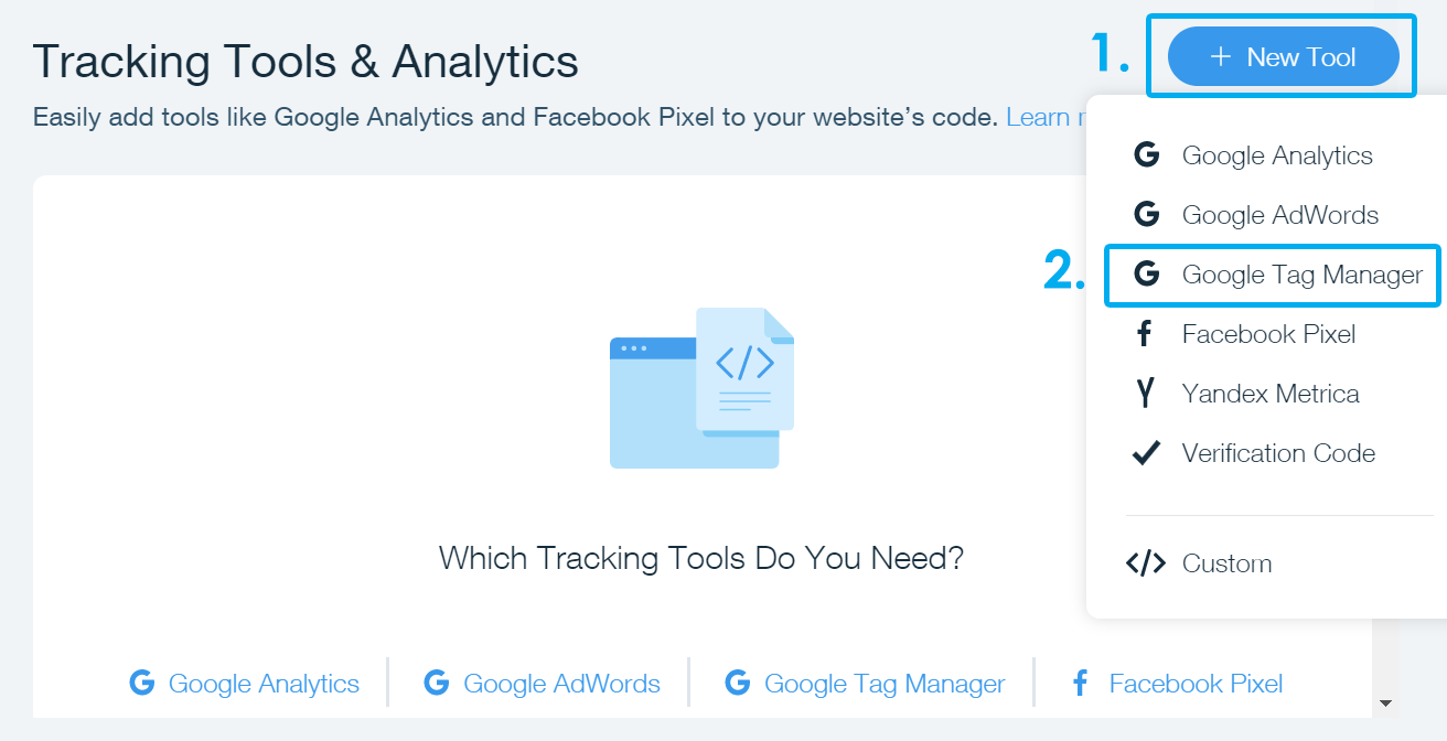 how to add google analytics to wix