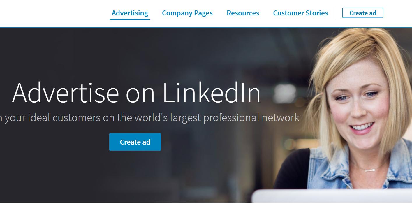 Linkedin Ads landing page