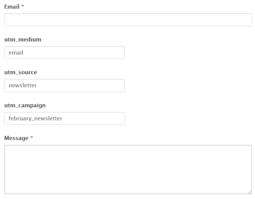 sample form with prefilled fields