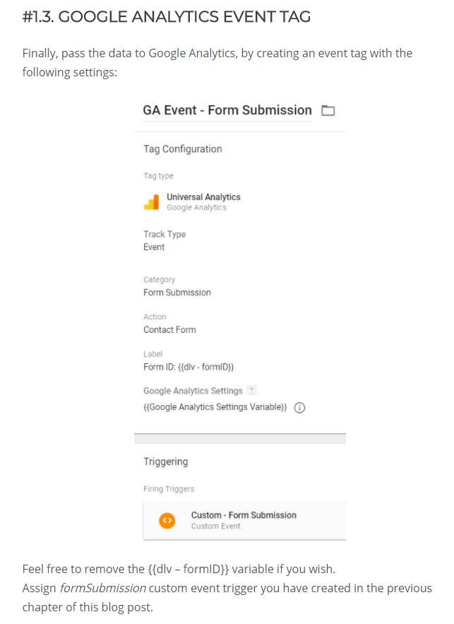 Google Analytics Event Tag