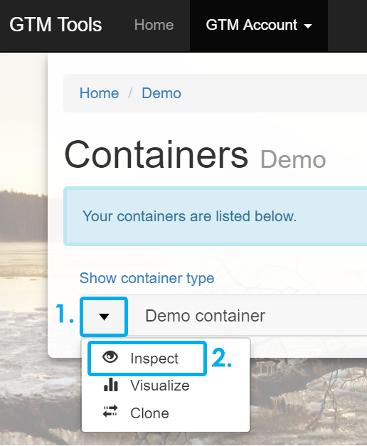 Demo container
