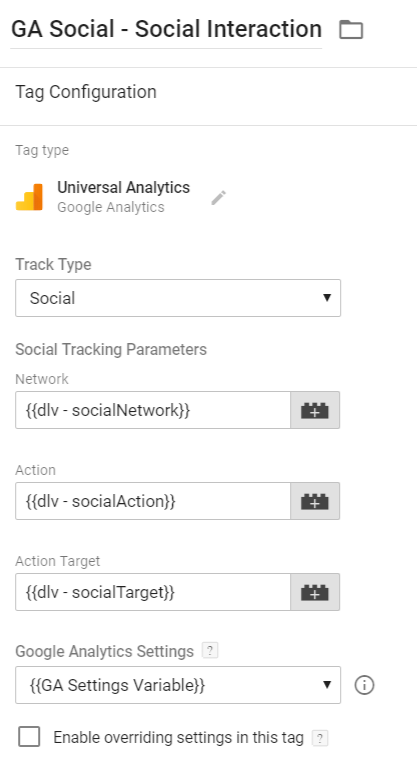 Google Analytics Social Tag