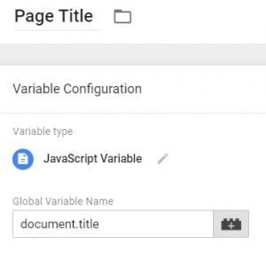 JavaScript Variable - Page Title