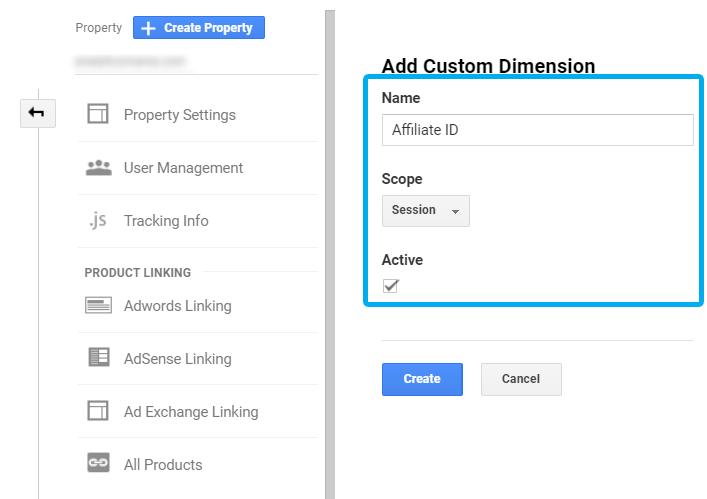 Custom Dimension - Affiliate ID