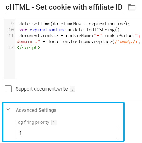 Tag Firing Priority in Custom HTML tag