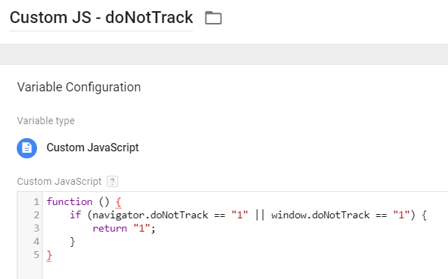Updated Do Not Track Variable