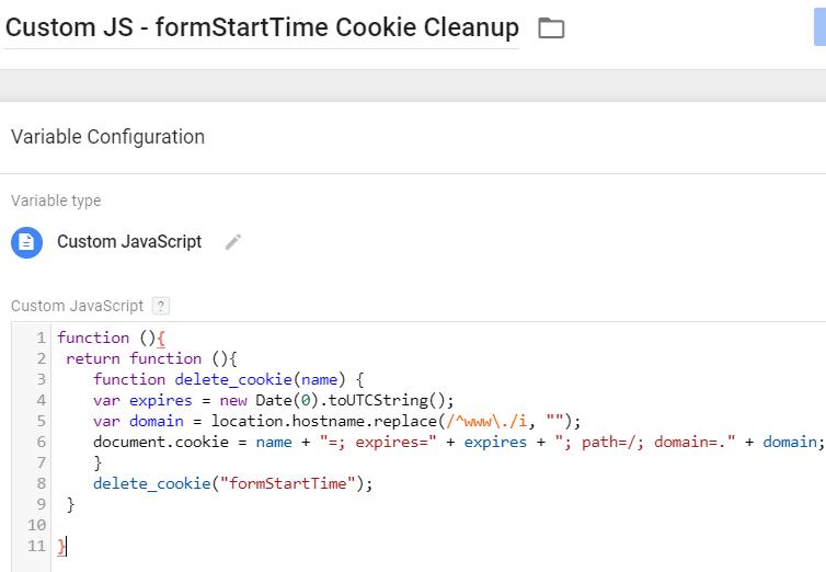 Custom JS - Delete Cookie