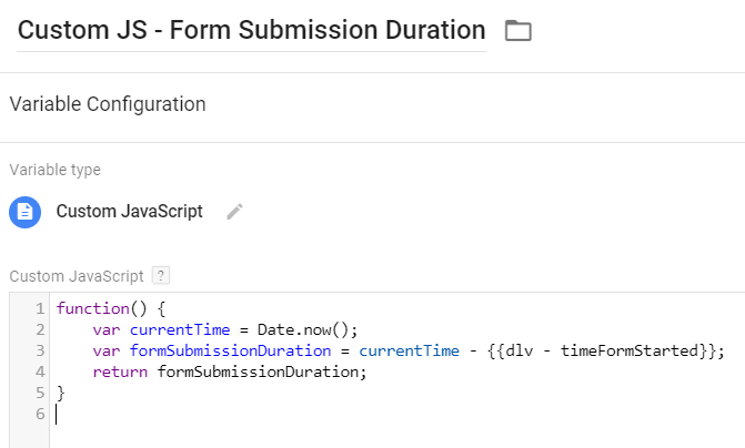 Track The Timing of Form Submission with Google Tag Manager