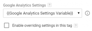 GA Settings Variable