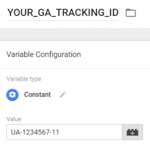 your tracking ID variable