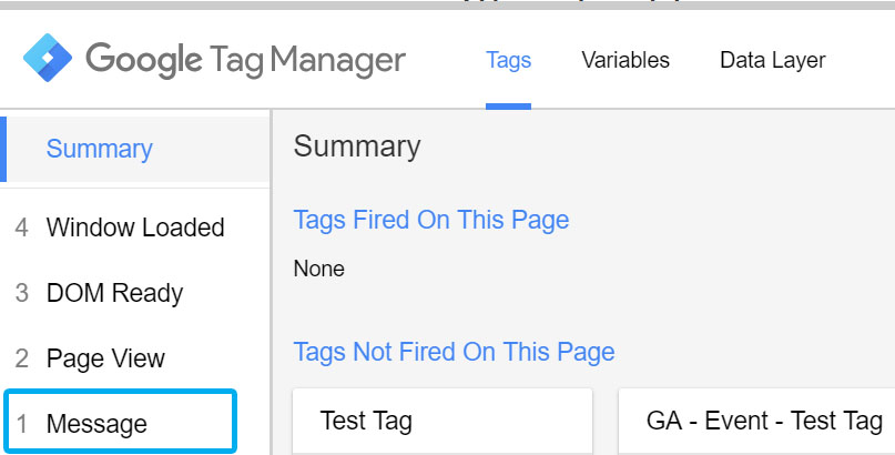 GA Ecommerce Tracking with Google Tag Manager - Data Layer code above the container