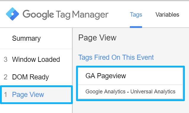 GA Pageview tag